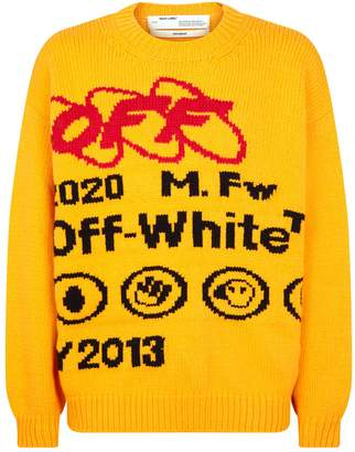 Off-White Off White Logo Knit Sweater