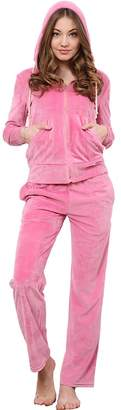 Godsen Women's Velour Classic Tracksuit Sweatsuits Hoodie and Pants (XS, )