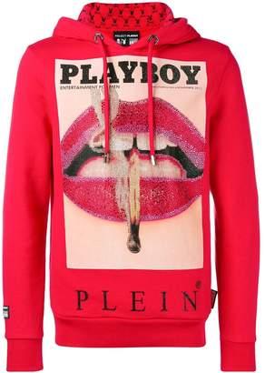 Philipp Plein X Playboy printed crystal hoodie