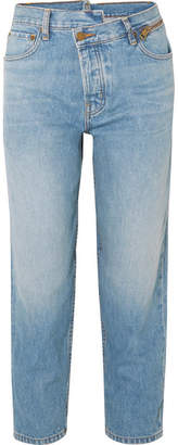 Monse Dad Deconstructed Zip-embellished Slim Boyfriend Jeans - Mid denim
