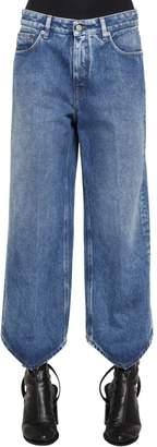MM6 MAISON MARGIELA Triangle Hem Washed Cotton Denim Jeans