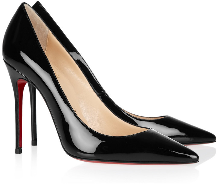 Christian Louboutin Decollete 554 100 patent-leather pumps