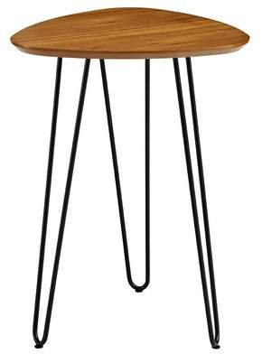 Wrought Studio Goldner Hairpin Leg Wood End Table