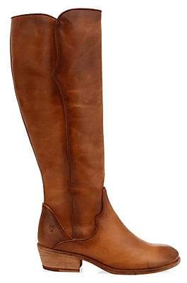 Frye Women's Carson Leather Piping Tall Western Boots