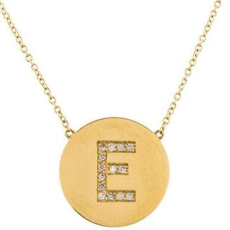 Jennifer Meyer Diamond Letter 'E' Pendant Necklace