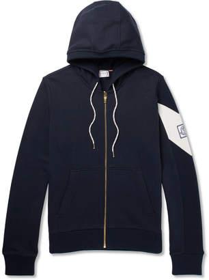 Moncler Gamme Bleu Fleece-Back Cotton-Jersey Zip-Up Hoodie