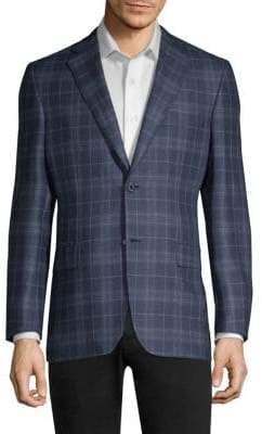 Brioni High Box Plaid Regular-Fit Sportcoat