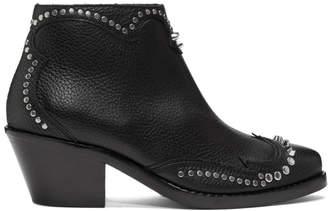 McQ Black New Solstice Zip Boots