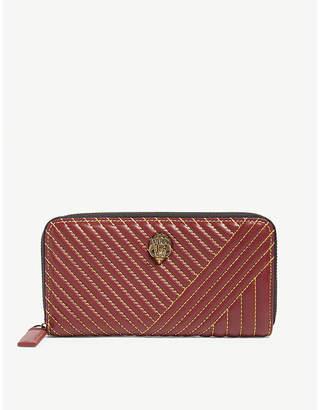 Kurt Geiger London Contrast stitch leather wallet