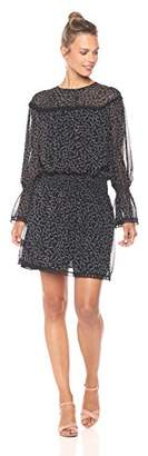 Ella Moon Women's Sera Long Bell Sleeves Cinch Waist Dress