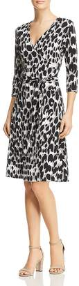 Leota Faux-Wrap Animal Print Dress
