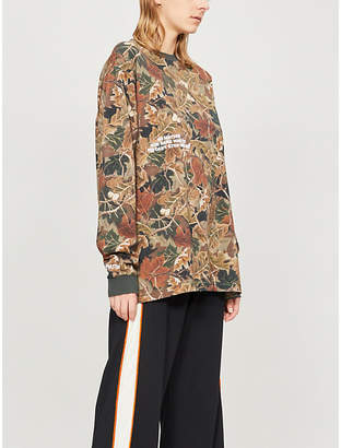 HERON PRESTON Camouflage-print cotton-jersey T-shirt