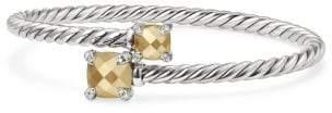 David Yurman Chatelaine® Bypass Bracelet With 18K Gold And Diamonds