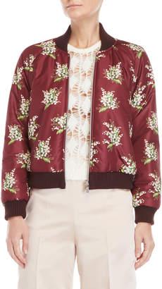 Blugirl Floral Padded Bomber Jacket