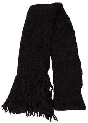 Etoile Isabel Marant Open Knit Fringe-Trimmed Scarf