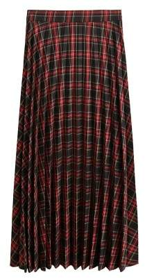 MANGO Checked long skirt