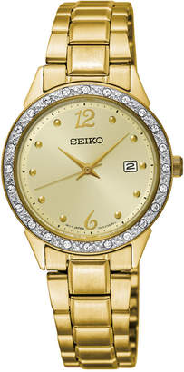 Seiko Limited Edition Women's Special Value Gold-Tone Stainless Steel Bracelet Watch 28mm