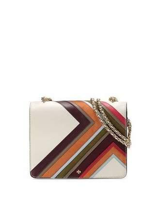 Tory Burch Robinson Multi-Stripe Convertible Shoulder Bag, New Ivory/Multi $475 thestylecure.com