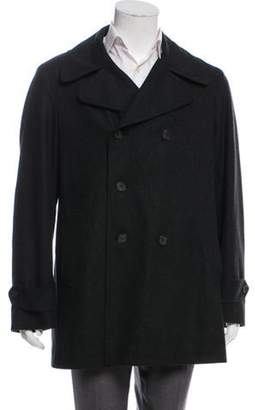 Burberry Wool & Cashmere-Blend Double -Breasted Coat wool Wool & Cashmere-Blend Double -Breasted Coat