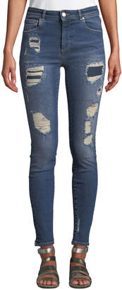 Mica Acynetic Quincy Distressed Skinny Ankle Jeans