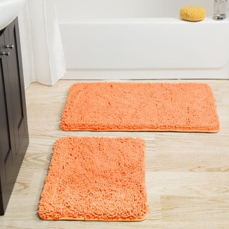 Somerset Home 2 Piece Memory Foam Bath Mat - Peach