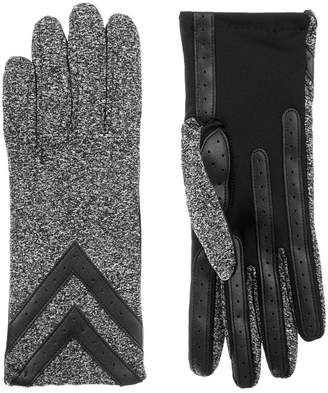 Isotoner Cold Weather 3 Button Sandex Glove with SmartDRI