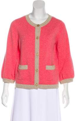 Chanel Two-Tone Cashmere Cardigan