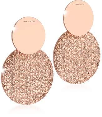 Rebecca R-ZERO Rose Gold Over Bronze Drop Earrings
