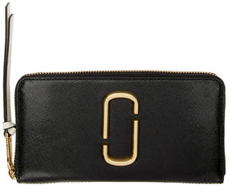 Marc Jacobs Black Snapshot Standard Continental Wallet