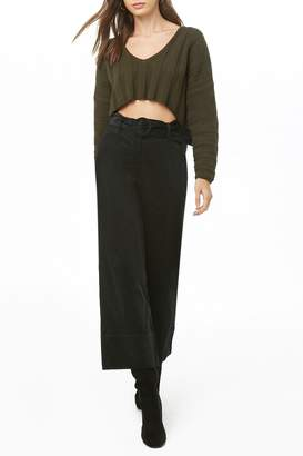 Forever 21 Corduroy Cropped Flare Pants