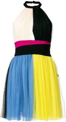 Fausto Puglisi panelled mini halterneck dress