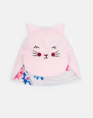 Joules Clothing Rose Pink Cat Tibbs Character Sun Hat