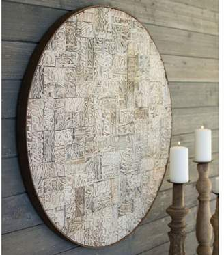 Pottery Barn Recycled Round Block Print Wall Panel