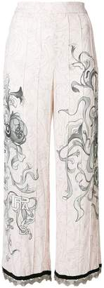 Prada floral sketch trousers