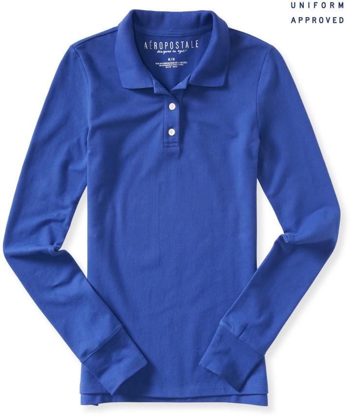 Uniform Long Sleeve Solid Piqué Polo
