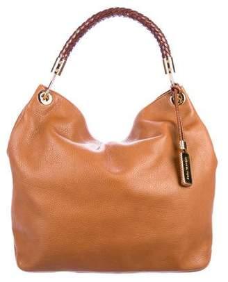 1ef31ff696e0 Michael Kors Brown Leather Hobo Bag - ShopStyle