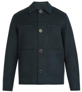 Ami Patch Pocket Wool Jacket - Mens - Dark Green