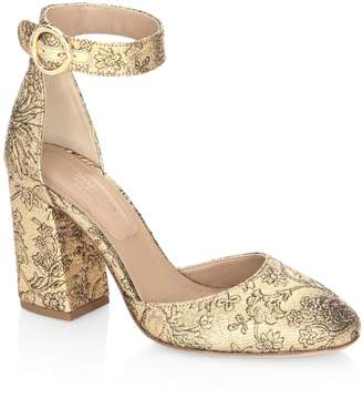 Michael Kors Rena Shimmery Ankle Strap Pumps