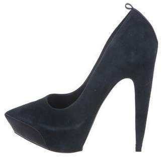 Theyskens' Theory Suede Pointed-Toe Pumps