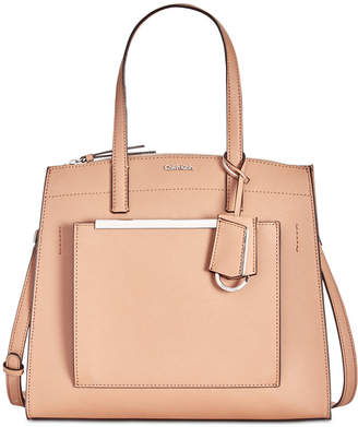 Calvin Klein Mara Leather Satchel