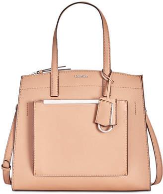 Calvin Klein Mara Leather Satchel