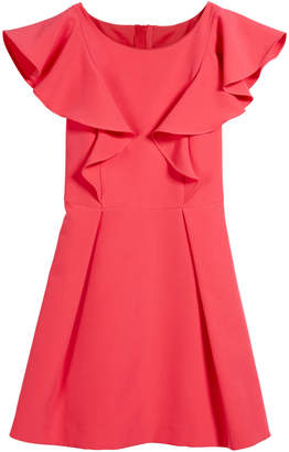 Milly Minis Italian Cady Ruffle Dress, Size 4-6