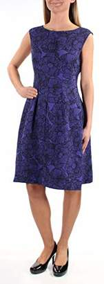 Anne Klein Women's Printed Crepe Inverted Pleat Fit & Flare