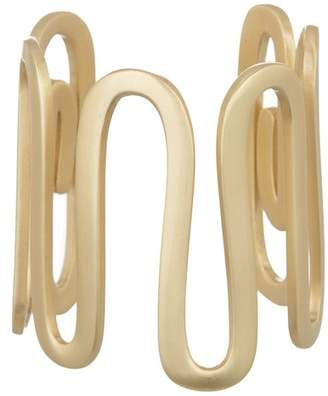 Elizabeth and James Clark White Topaz Squiggle Cuff Bracelet