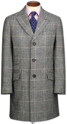 Charles Tyrwhitt Grey Checkered Wool Epsom OverWool coat Size 38
