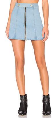Understated Leather x REVOLVE High Waist Zip Skirt.