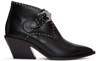 Givenchy Black Nappa One Buckle Boots