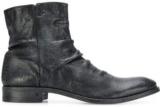 John Varvatos side zip ankle boots