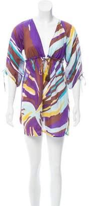 Diane von Furstenberg Abstract Print Helma Dress