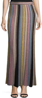 M Missoni Vertical Striped Crochet Maxi Skirt